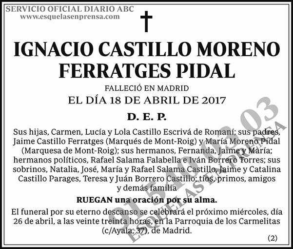 Ignacio Castillo Moreno Ferratges Pidal